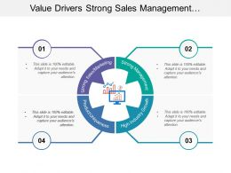 Value Drivers Strong Sales Management Industry Growth