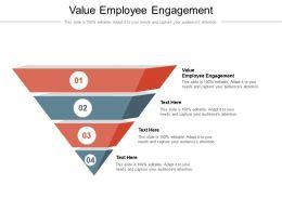 Value Employee Engagement Ppt Powerpoint Presentation Portfolio Design Ideas Cpb