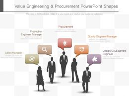 Value Engineering And Procurement Powerpoint Shapes
