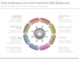 Value Engineering Life Cycle Powerpoint Slide Background