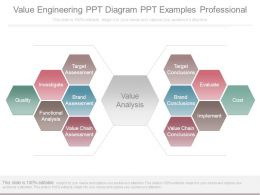 Value Engineering Ppt Diagram Ppt Examples Professional