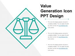 Value Generation Icon Ppt Design