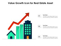 Value Growth Icon For Real Estate Asset