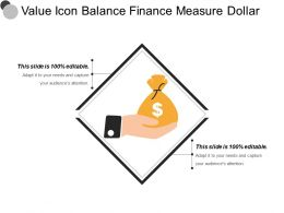 Value Icon Balance Finance Measure Dollar