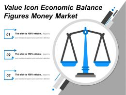 Value Icon Economic Balance Figures Money Market