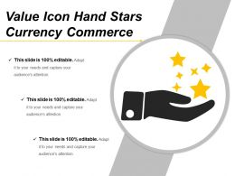 Value Icon Hand Stars Currency Commerce