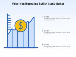Value Icon Illustrating Bullish Stock Market