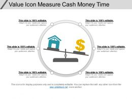 Value Icon Measure Cash Money Time