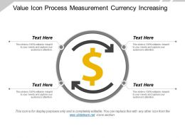 Value Icon Process Measurement Currency Increasing
