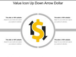 Value Icon Up Down Arrow Dollar
