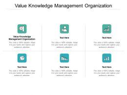 Value Knowledge Management Organization Ppt Powerpoint Slides Cpb