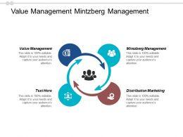 Value Management Mintzberg Management Distribution Marketing Cpb