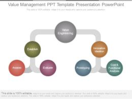 Value Management Ppt Template Presentation Powerpoint