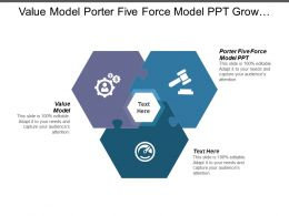 Value Model Porter Five Force Model Ppt Grow Model Cpb