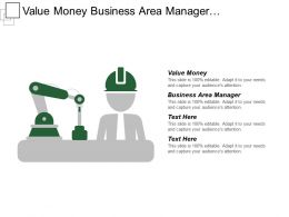Value Money Business Area Manager Management Decision Diagram