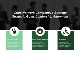 Value Network Competitive Strategy Strategic Goals Leadership Alignment