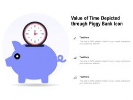 Value Of Time Depicted Through Piggy Bank Icon