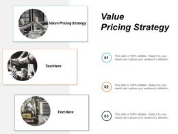 Value Pricing Strategy Ppt Powerpoint Presentation Styles Layouts Cpb