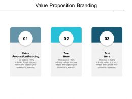 Value Proposition Branding Ppt Powerpoint Presentation Pictures Format Ideas Cpb