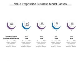 Value Proposition Business Model Canvas Ppt Powerpoint Presentation Professional Cpb