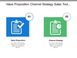 Value Proposition Channel Strategy Sales Tool Creation Sales Training Plan