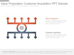 Value Proposition Customer Acquisition Ppt Sample