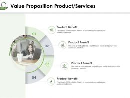 Value Proposition Product Services Benefit Ppt Powerpoint Presentation Show Outfit