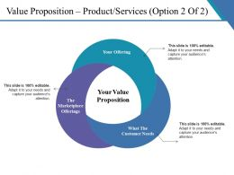 Value Proposition Product Services Ppt Slide Design