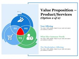 Value Proposition Product Services Ppt Summary Example File