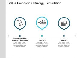 Value Proposition Strategy Formulation Ppt Powerpoint Presentation Infographic Template Slide Cpb
