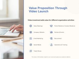 Value Proposition Through Video Launch Ppt Powerpoint Presentation Slides
