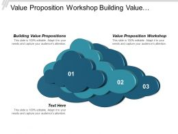 Value Proposition Workshop Building Value Propositions Enterprise Multichannel Cpb