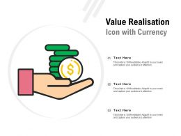 Value Realisation Icon With Currency