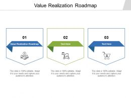 Value Realization Roadmap Ppt Powerpoint Presentation File Icon Cpb