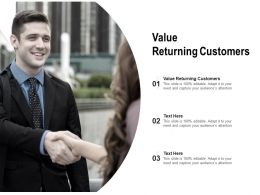 Value Returning Customers Ppt Powerpoint Presentation Portfolio Ideas Cpb