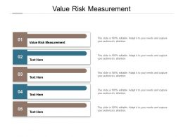 Value Risk Measurement Ppt Powerpoint Presentation Icon Graphics Tutorials Cpb