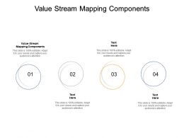 Value Stream Mapping Components Ppt Powerpoint Presentation Professional Infographics Cpb