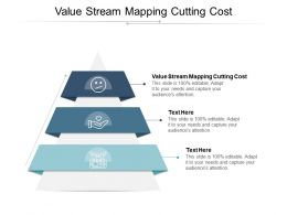 Value Stream Mapping Cutting Cost Ppt Powerpoint Presentation Layouts Graphics Tutorials Cpb