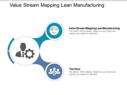 Value Stream Mapping Lean Manufacturing Ppt Powerpoint Presentation Ideas Layout Cpb