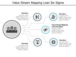 Value Stream Mapping Lean Six Sigma Ppt Powerpoint Presentation Model Elements Cpb