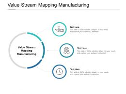 Value Stream Mapping Manufacturing Ppt Powerpoint Presentation Styles Influencers Cpb