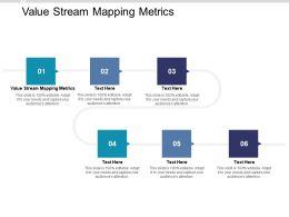 Value Stream Mapping Metrics Ppt Powerpoint Presentation Ideas Graphics Cpb