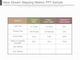 Value Stream Mapping Metrics Ppt Sample