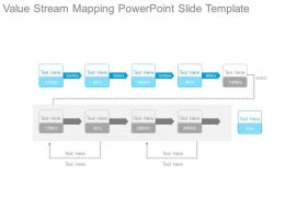 Value creation slide team for Value stream map template powerpoint