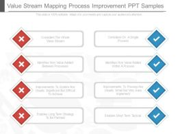 Value Stream Mapping Process Improvement Ppt Samples