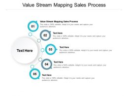 Value Stream Mapping Sales Process Ppt Powerpoint Presentation Ideas Cpb