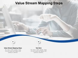 Value Stream Mapping Steps Ppt Powerpoint Presentation Model Example Topics Cpb