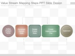 Value Stream Mapping Steps Ppt Slide Design