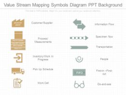 Value Stream Mapping Symbols Diagram Ppt Background