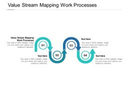 Value Stream Mapping Work Processes Ppt Powerpoint Presentation File Cpb